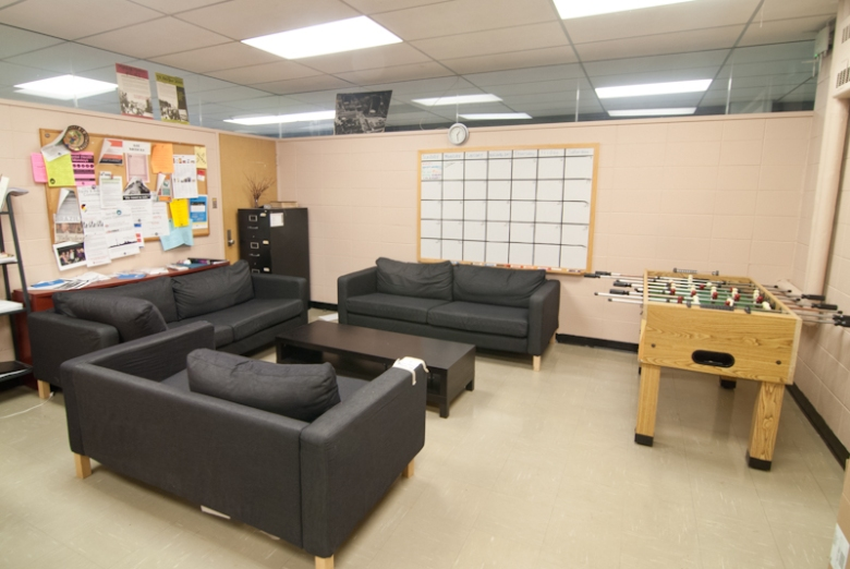 A place to relax in the Taylor Room