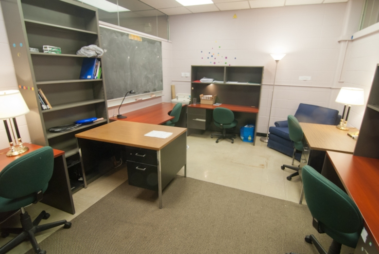 An example of one of the shared offices in Sidney Smith Hall